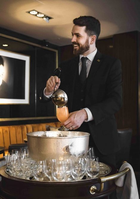 Punch drink being prepared at the Dakota Hotel