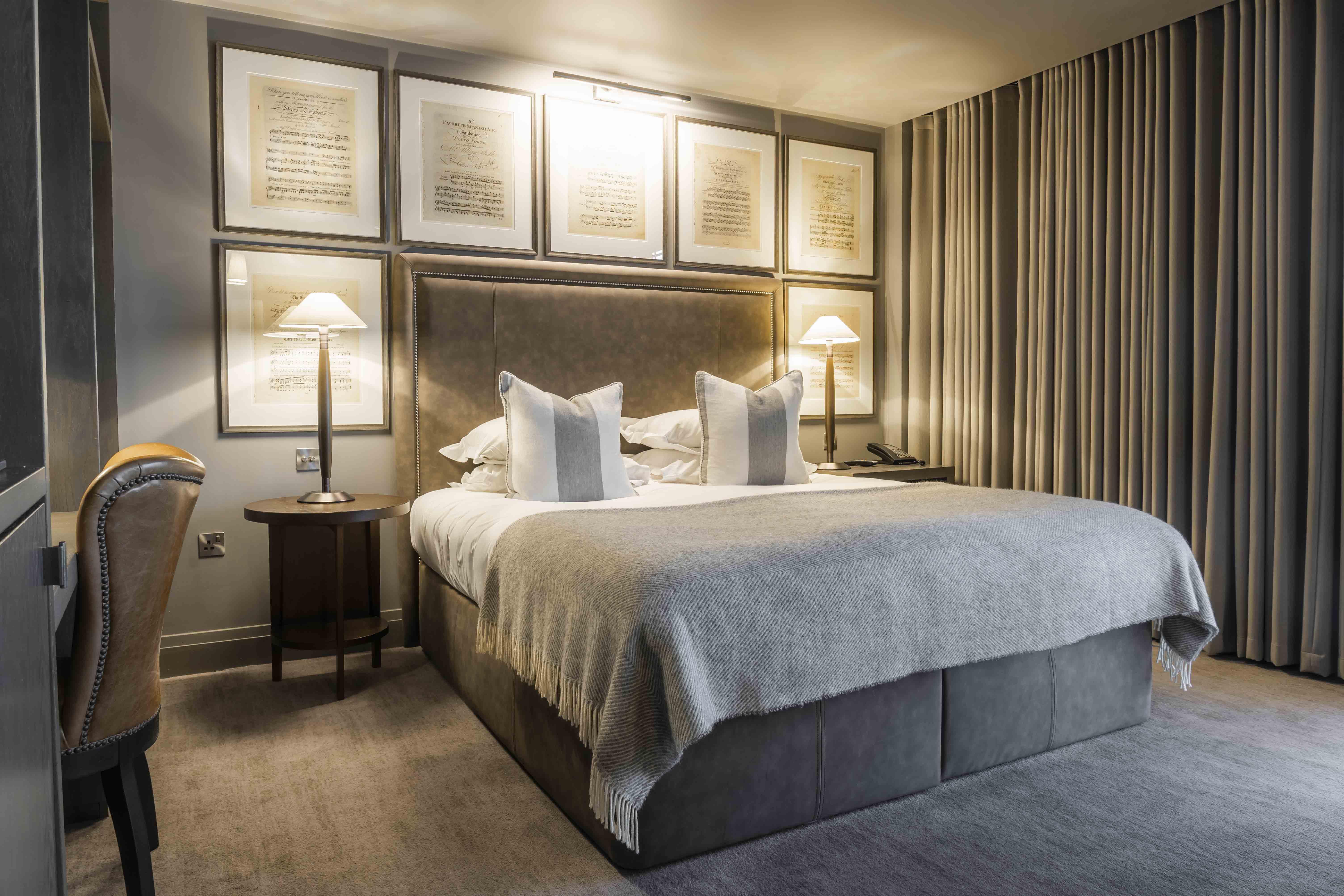 Dakota Hotel Glasgow classic bedroom, sumptuous double bed