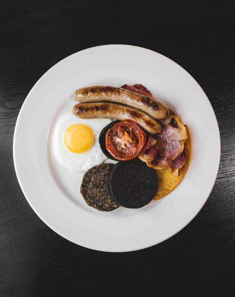 Dakota Glasgow - Cooked Breakfast - Fried egg, sausage, bacon, black pudding, tomato