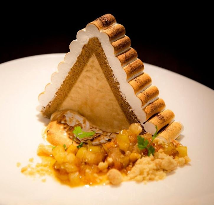 Gingerbread Baked Alaska at Dakota Glasgow