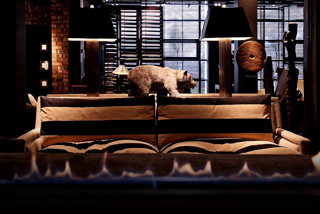 Dakota Hotel - Sofa and Bear Statue