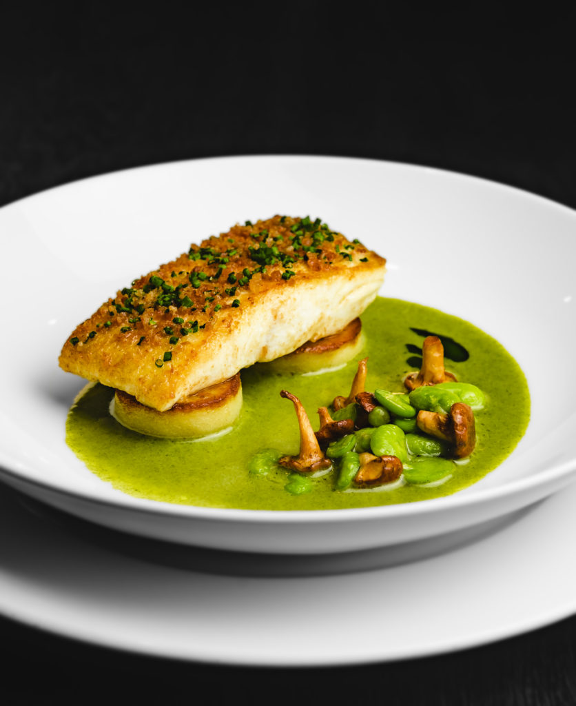 Dakota Hotel Leeds - fish dish on white plate