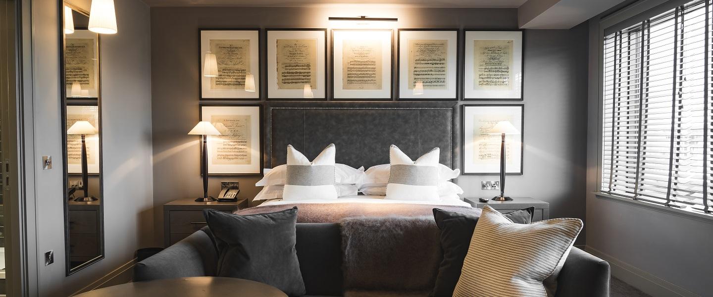Dakota Hotel Leeds grand deluxe bedroom suite